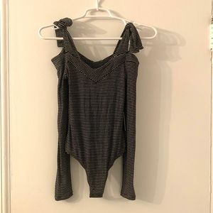 Express Tops - NEW Express Robbed Long Sleeve Bodysuit